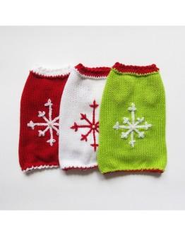 Christmas Dog Sweater With Snowflake
