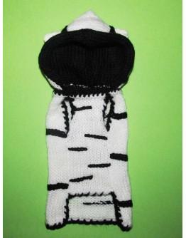 Zebra Dog Costume - Hoodie