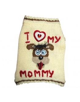 I Love My Mommy Dog Sweater