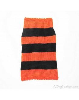 Dog sweater - Orange and Black Stripes