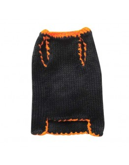 Black Halloween Dog Sweater with Pumpkin