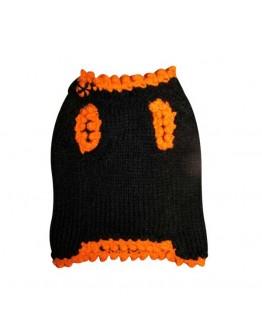 Halloween Dog Sweater with Dog and Pumpkin