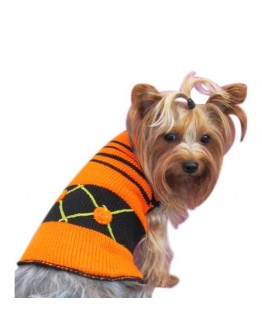 Halloween Dog Sweater with 3 Pumpkins