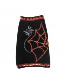 Halloween Dog Sweater with Spider and Net